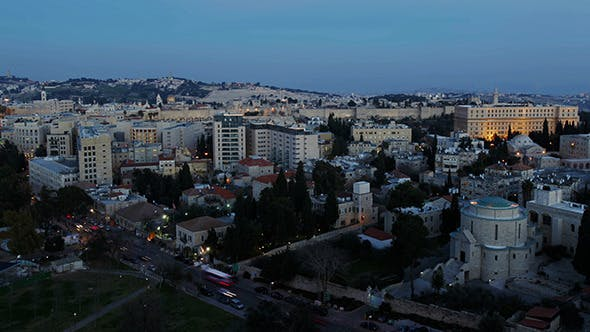 Thumbnail for Dusk to Night Time Lapse, Jerusalem 2