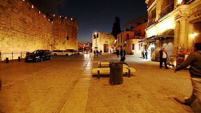 Night Life near Jaffa Gate, Jerusalem, Israel 3