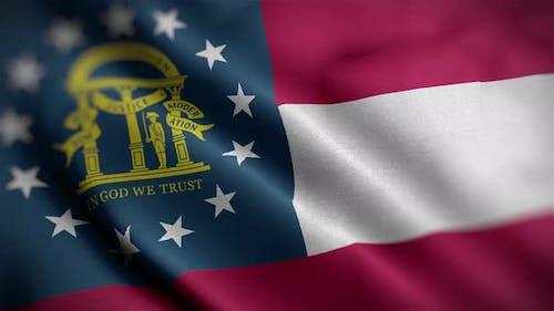 Georgia State Flag Angle