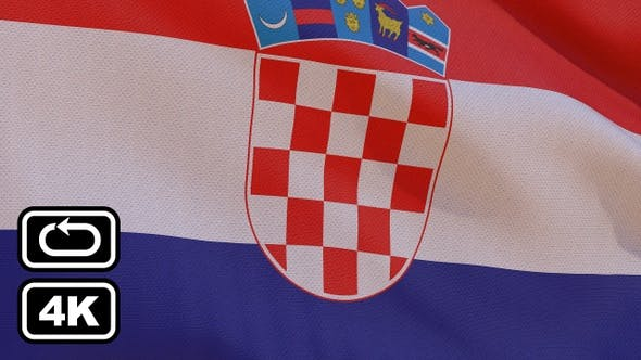 Thumbnail for Croatia Flag 4K Seamless Loop