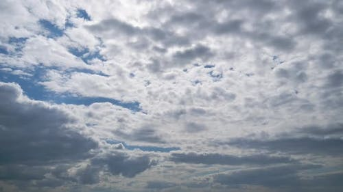 Clouds Move Smoothly in the Blue Sky. Timelapse. Cloud Space