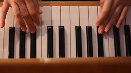 Cover Image for Hands of The Pianist Playing Classic Piano