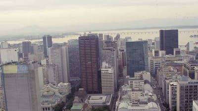Aerial shot of Rio de Janeiro cityscape in Brazil