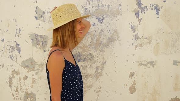 Thumbnail for Gorgeous Model Holding Her Hat with One Hand