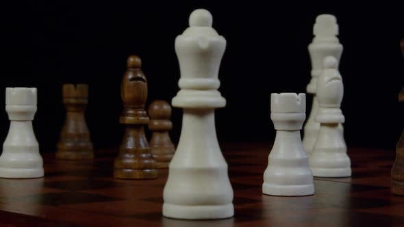 Thumbnail for Chess Player Makes A Move The White Queen 25