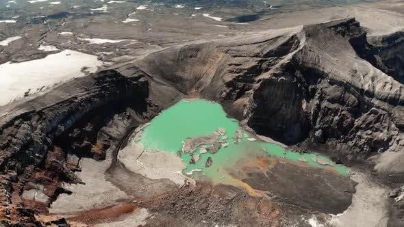 Flying Over the Volcano, Red Krator Volcano
