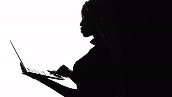 Network Search Silhouette Black Woman Digital