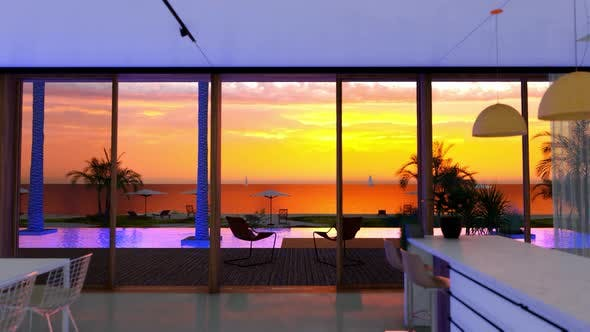 Ocean Villa On Sea View For Vacation And Summer