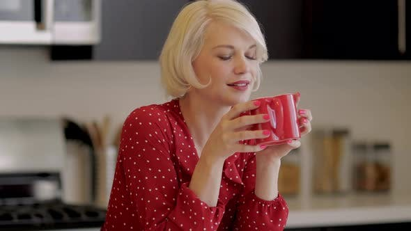 Thumbnail for Attractive Woman Enjoying Her Coffee