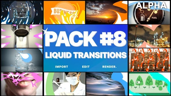 Thumbnail for Liquid Transitions Pack 08 | Motion Graphics Pack
