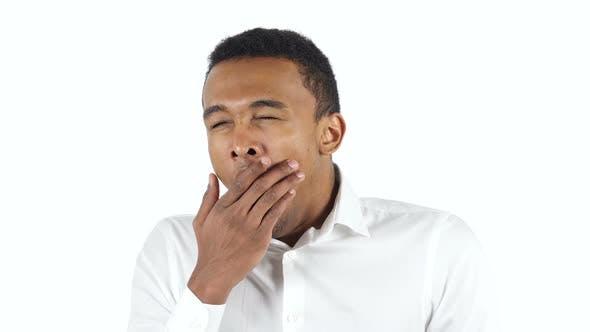 Thumbnail for Tired Black Man Yawning