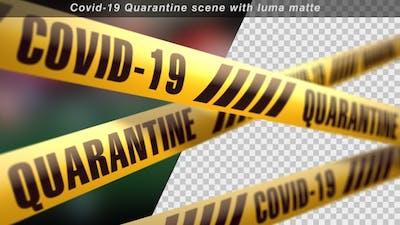 Coronavirus Quarantine Stripes Scene