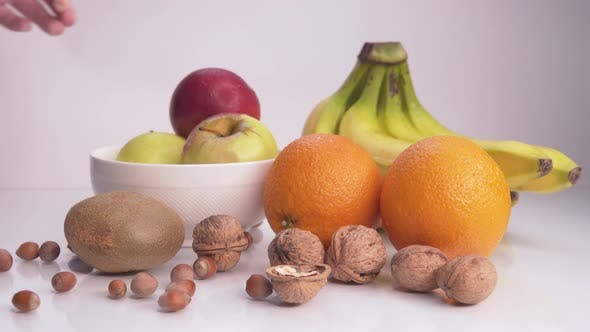 Thumbnail for Healthy Food Apples, Bananas and Nuts