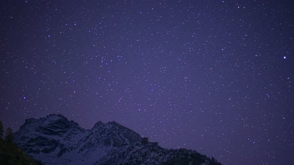 Thumbnail for Night Snowy Mountain Peak