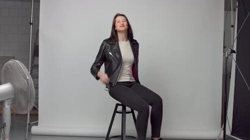 Photo and Video Studio with Woman Poses