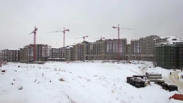 Thumbnail for Huge Construction Site in Winter