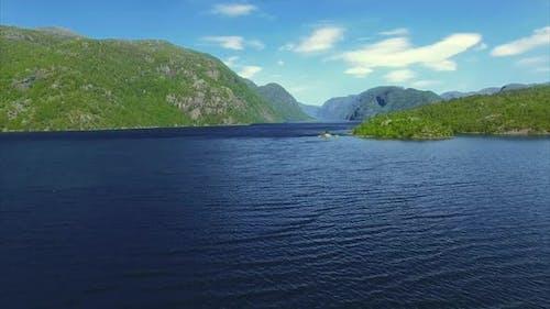 Fjord, aerial footage