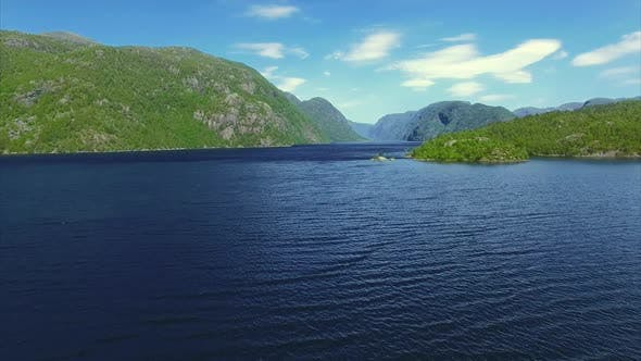 Thumbnail for Fjord, aerial footage