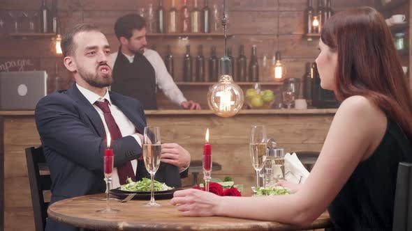 Thumbnail for Bearded Young Man Offers a Diamond Ring To His Girlfriend