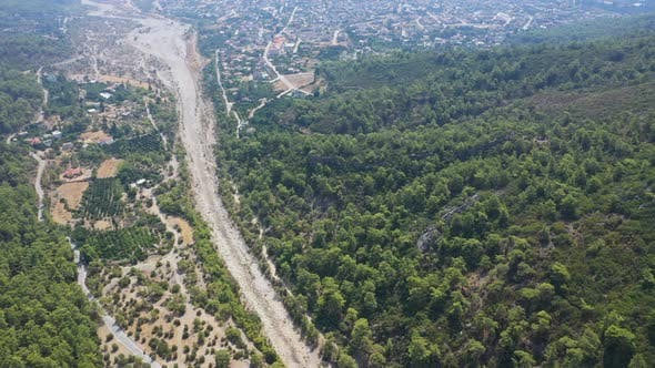 Thumbnail for Aerial Top View Road Goynuk Canyon Turkey