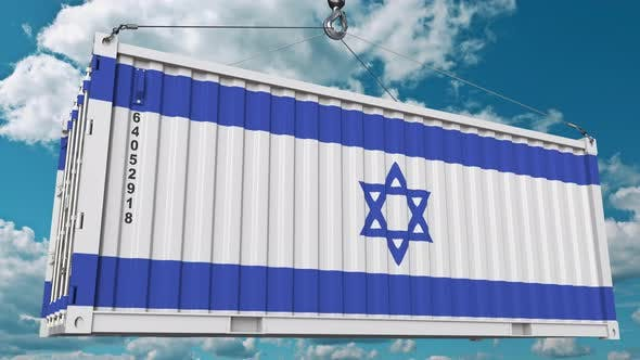 Thumbnail for Cargo Container with Flag of Israel