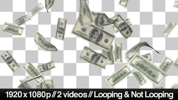 100 Money Bills Raining Down From Top To Bottom Von Butlerm Auf