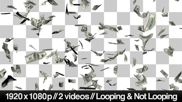 Thumbnail for $100 Bills Raining Down in Front of You on Alpha
