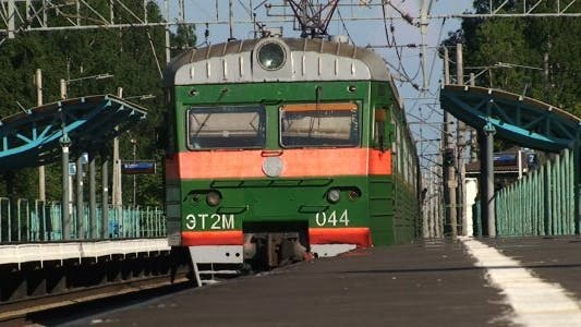 Passenger Train Leaving Platform