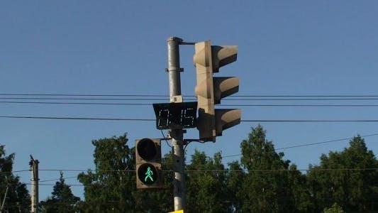 Pedestrian Traffic Lights with Timer