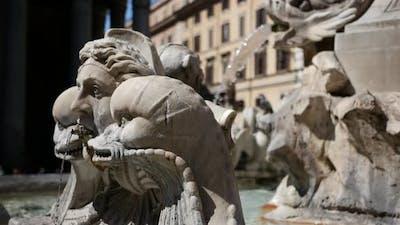 Pantheon fontein in Rome