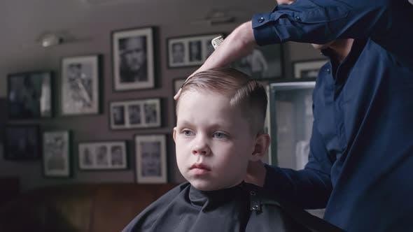 Thumbnail for Boy in Kid's Barbershop