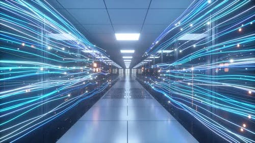 Digitale Informationsströme durch das Netzwerk