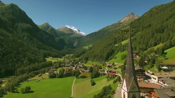 Thumbnail for Beautiful spire of St Vincent church in Heiligenblut in the Alps