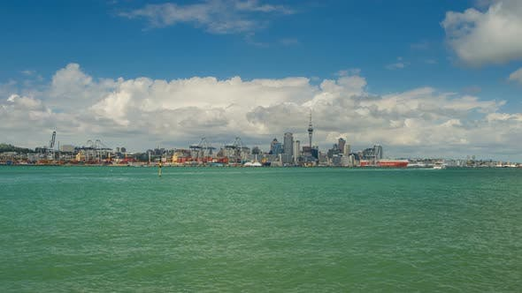 Cover Image for View on Auckland Central Part over the Channel