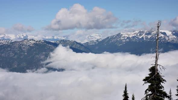 Thumbnail for Mountain Fog Landscape Time Lapse