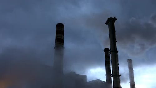 Thermal Power Plant With Smoke