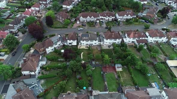 Thumbnail for Flying Above London Neighbourhood 4k