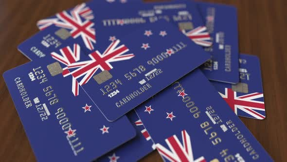 Thumbnail for Pile of Credit Cards with Flag of New Zealand