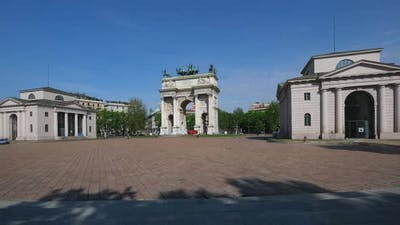 Milan Arch of Peace Monument Timelapse