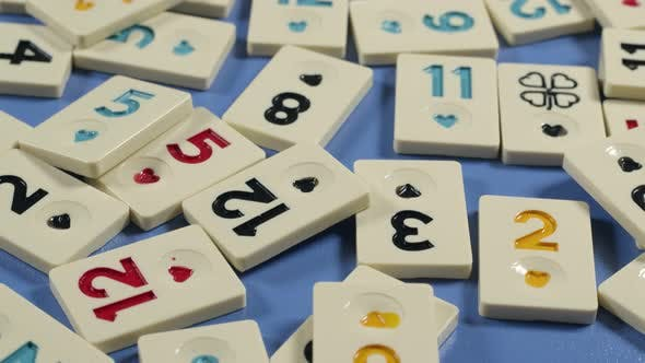 Traditional Legendary Gamble Okey Game Pieces with Colorful Numbers
