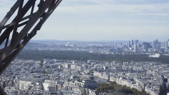 Thumbnail for Cityscape From Moving Elevator of Eiffel Tower