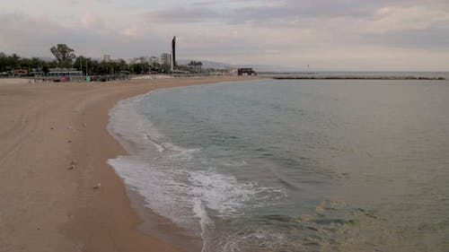 the Beaches of Barcelona Almost Empty