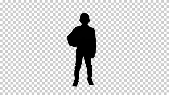 Thumbnail for Silhouette boy, Alpha Channel