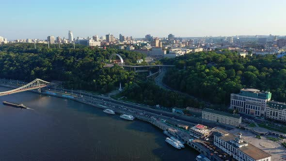 Thumbnail for Drone Footage Aerial View of Friendship of Nations Arch in Kiev, Ukraine