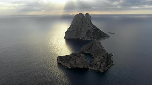 A Bird's-eye View of Island Isla De Es Vedra. Ibiza and the Balear Islands