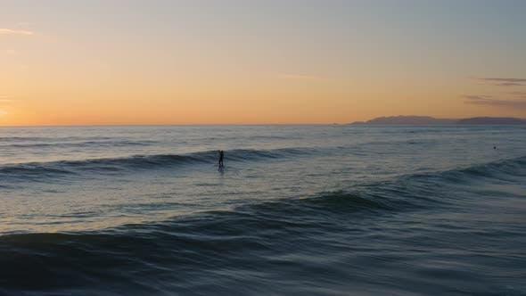 Thumbnail for Surfer Silhouette on the Ocean