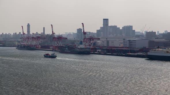 Container Terminal Cargo Facility Sea Port Tokyo