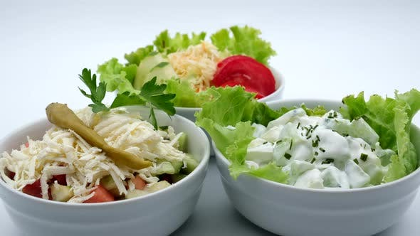 Thumbnail for Delicious Restaurant Food Salad With Cheese