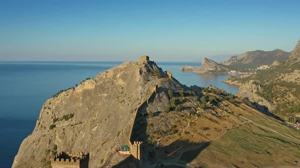 Thumbnail for Aerial View of Ancient Genoese Fortress in Crimea