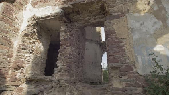 Ruined brick walls